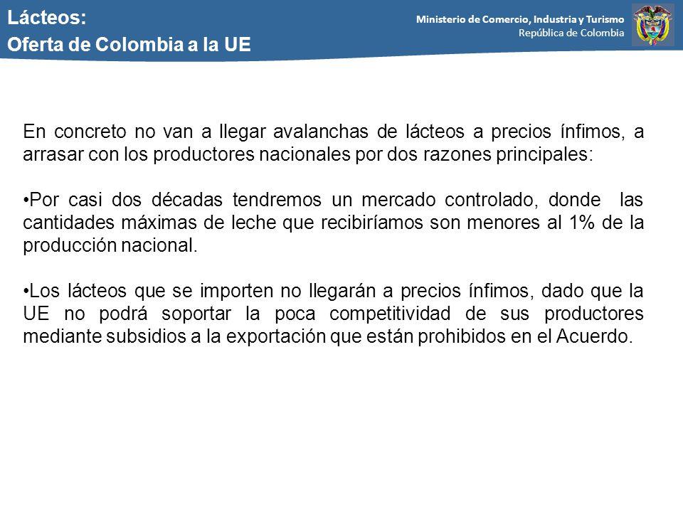 Lácteos: Oferta de Colombia a la UE