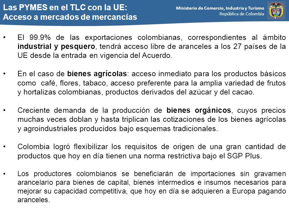 Las PYMES en el TLC con la UE: Acceso a mercados de mercancías