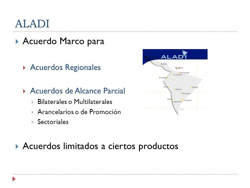 ALADI Acuerdo Marco para Acuerdos limitados a ciertos productos