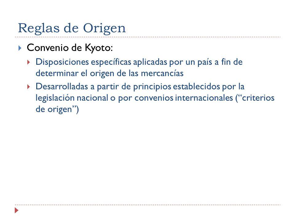 Reglas de Origen Convenio de Kyoto: