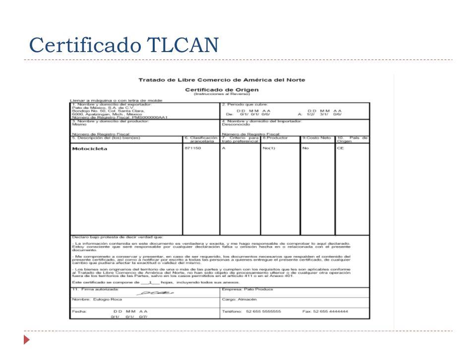 Certificado TLCAN