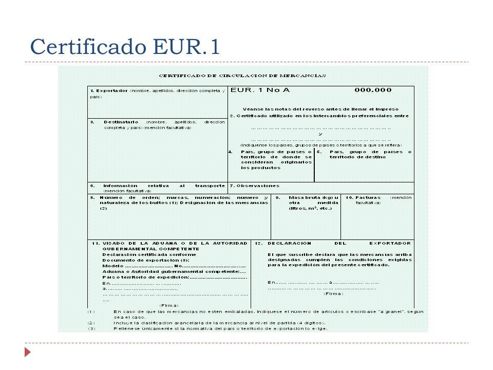 Certificado EUR.1
