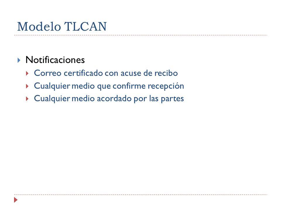 Modelo TLCAN Notificaciones Correo certificado con acuse de recibo