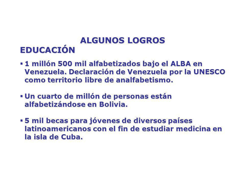 ALGUNOS LOGROS EDUCACIÓN