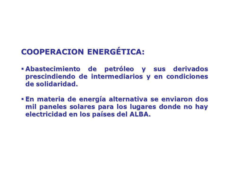 COOPERACION ENERGÉTICA:
