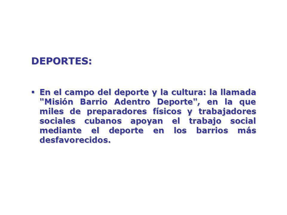 DEPORTES: