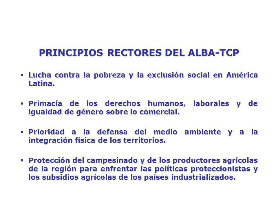 PRINCIPIOS RECTORES DEL ALBA-TCP