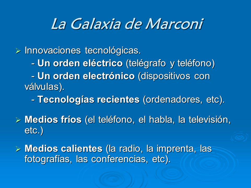 La Galaxia de Marconi Innovaciones tecnológicas.