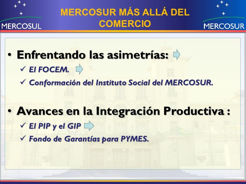 MERCOSUR MÁS ALLÁ DEL COMERCIO