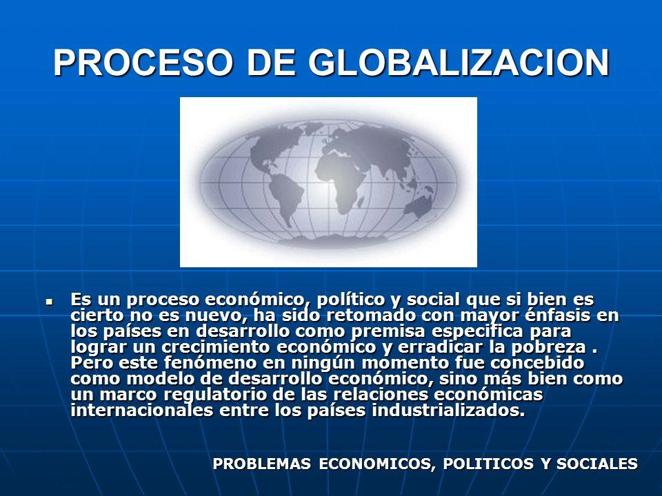 PROCESO DE GLOBALIZACION
