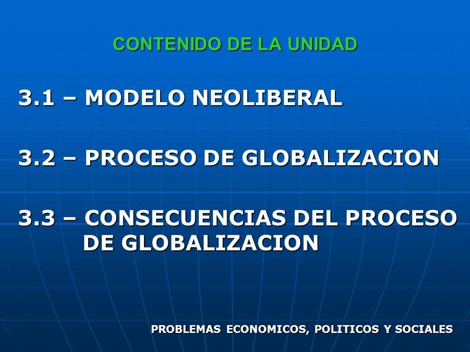 3.2 – PROCESO DE GLOBALIZACION