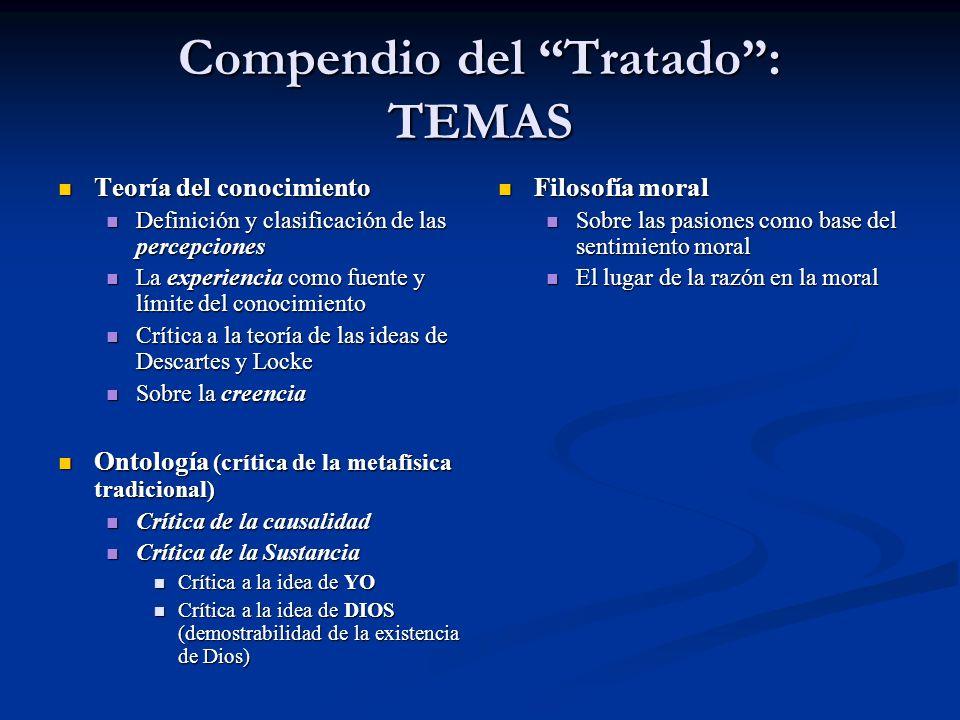 Compendio del Tratado : TEMAS