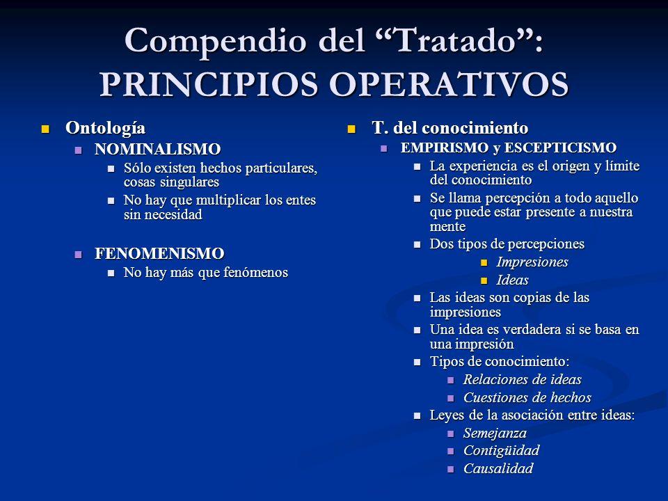 Compendio del Tratado : PRINCIPIOS OPERATIVOS