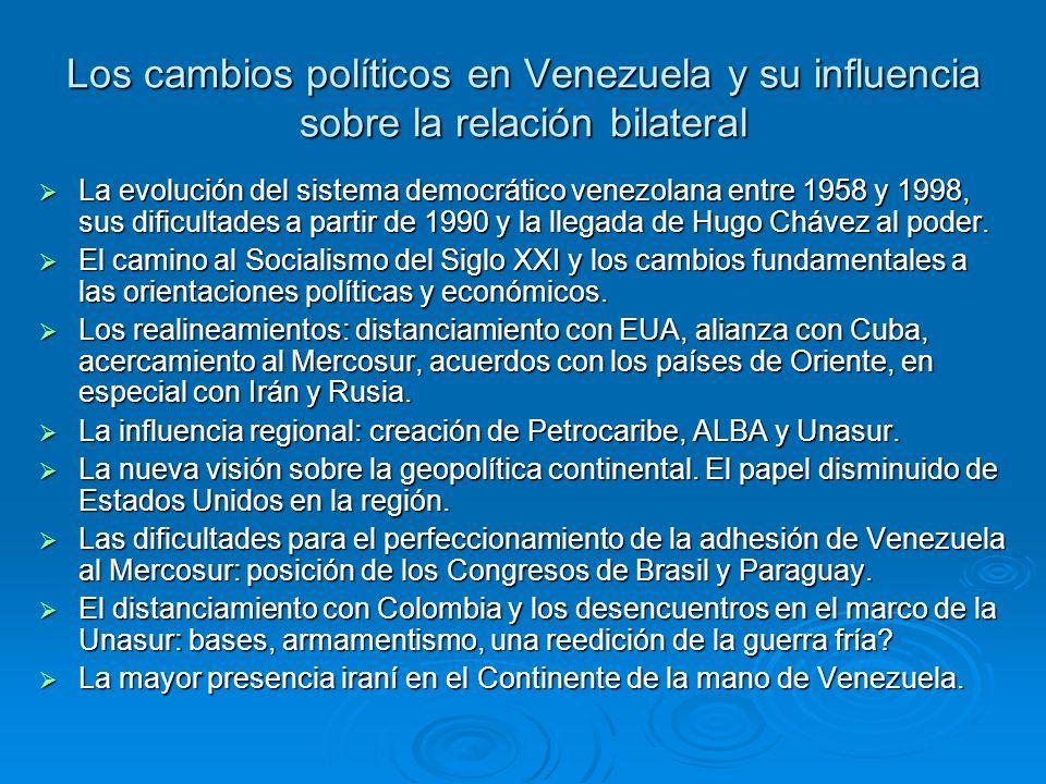 Los cambios políticos en Venezuela y su influencia sobre la relación bilateral