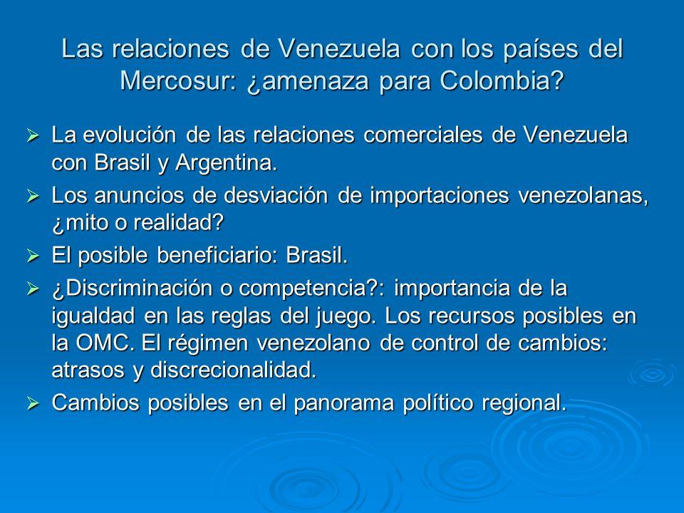 Las relaciones de Venezuela con los países del Mercosur: ¿amenaza para Colombia