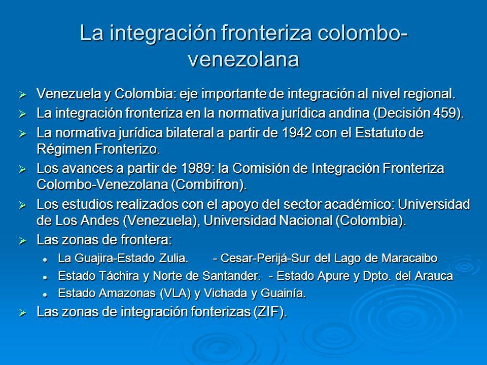 La integración fronteriza colombo-venezolana