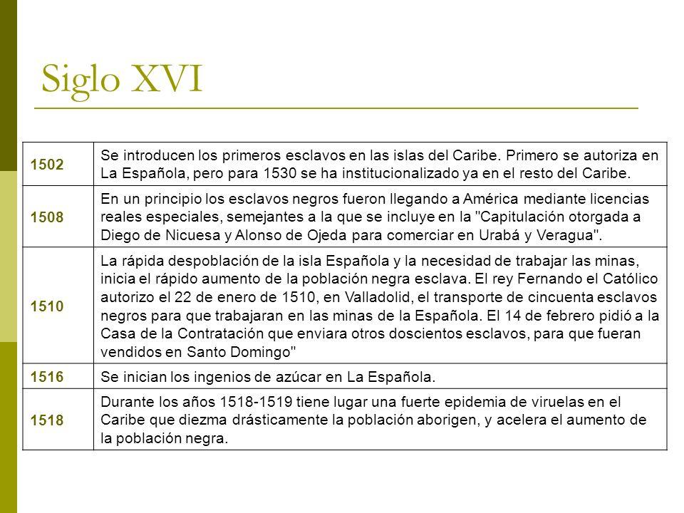 Siglo XVI 1502.