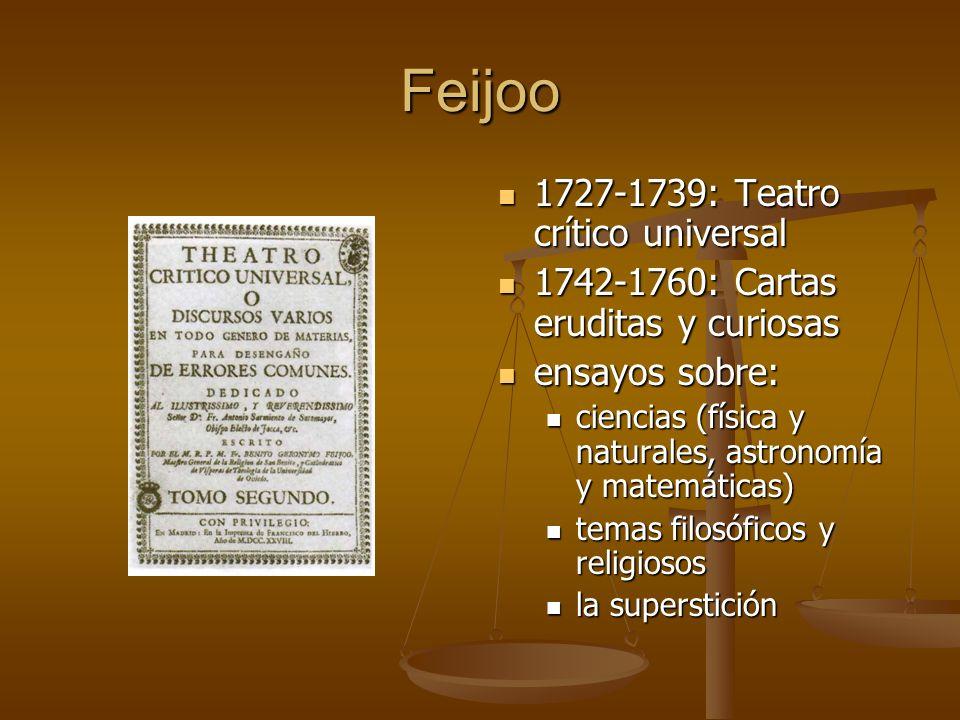 Feijoo 1727-1739: Teatro crítico universal