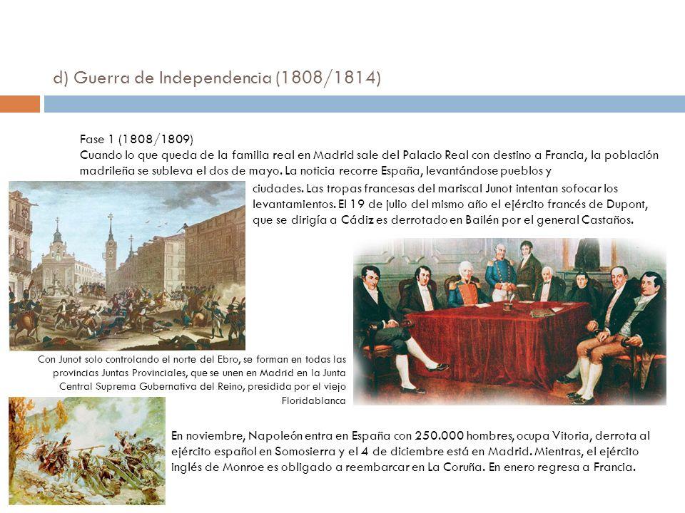 d) Guerra de Independencia (1808/1814)