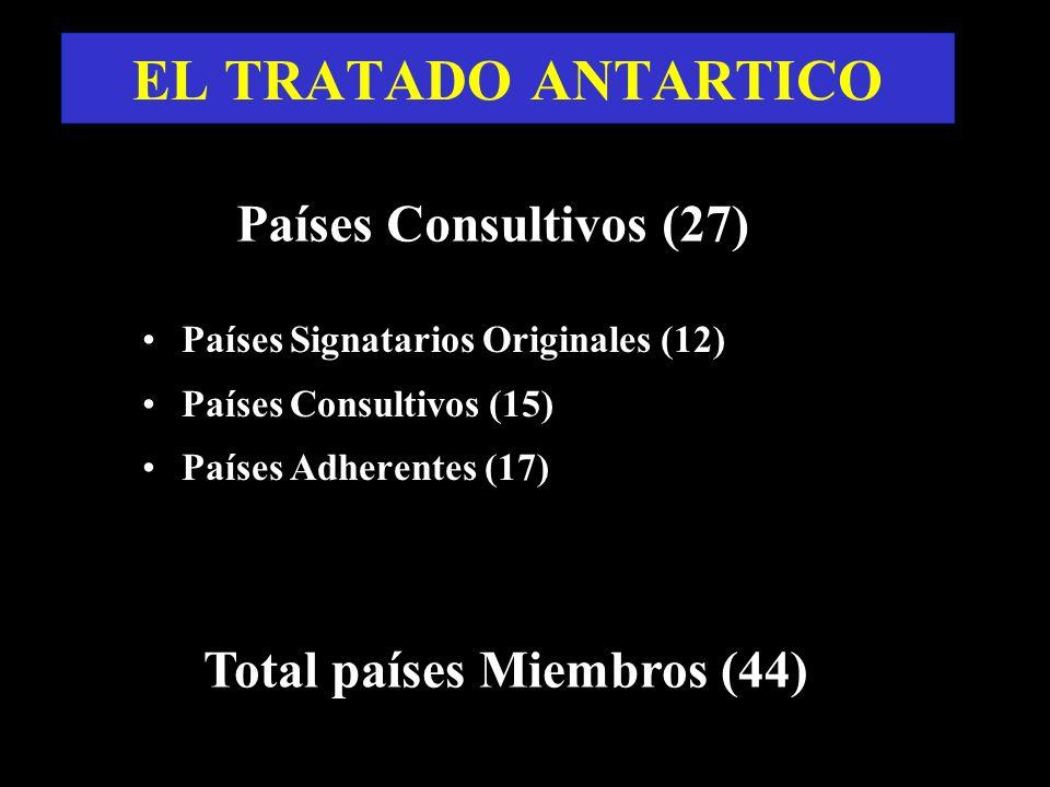 EL TRATADO ANTARTICO Países Consultivos (27)