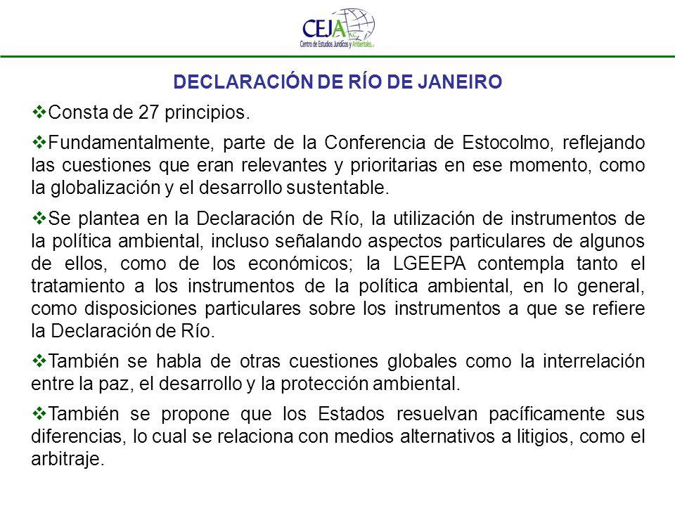 DECLARACIÓN DE RÍO DE JANEIRO