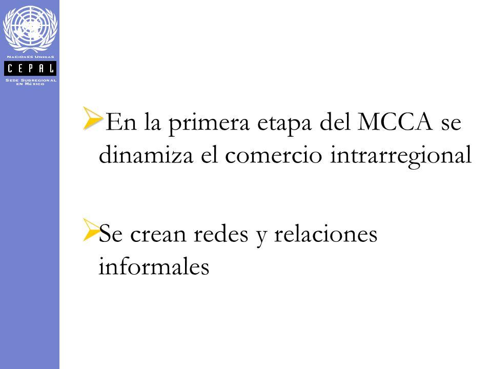 En la primera etapa del MCCA se dinamiza el comercio intrarregional