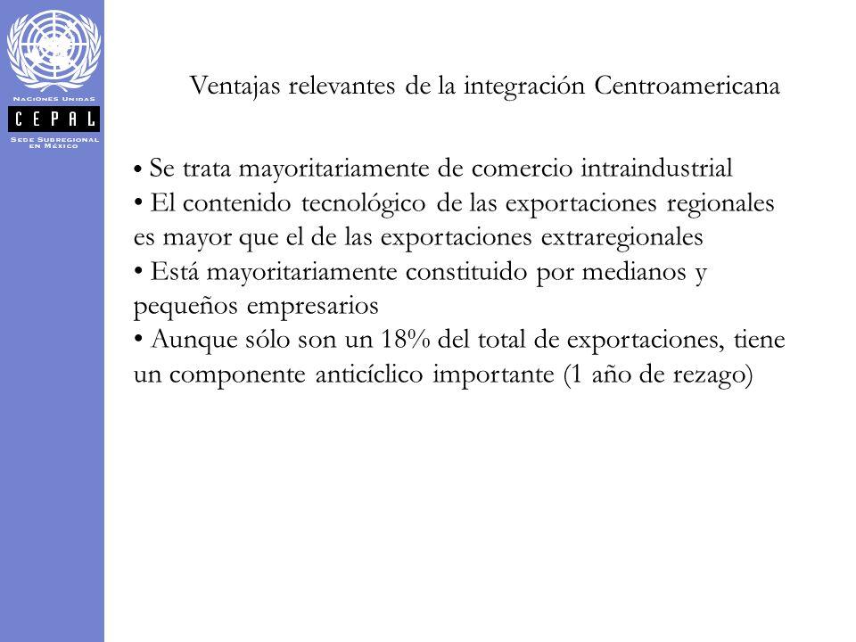 Ventajas relevantes de la integración Centroamericana