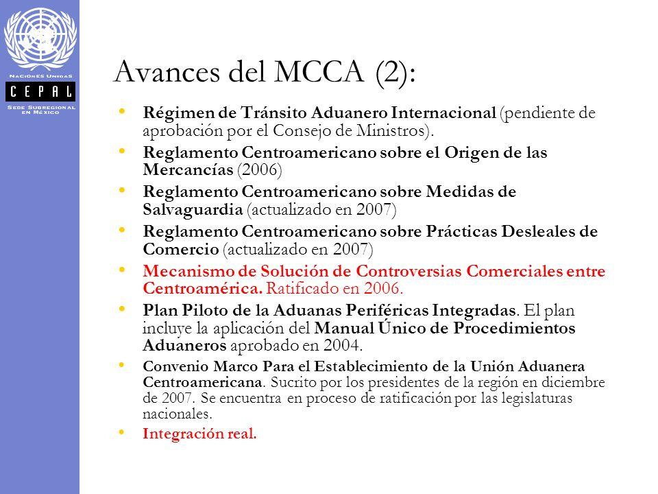 Avances del MCCA (2): Régimen de Tránsito Aduanero Internacional (pendiente de aprobación por el Consejo de Ministros).