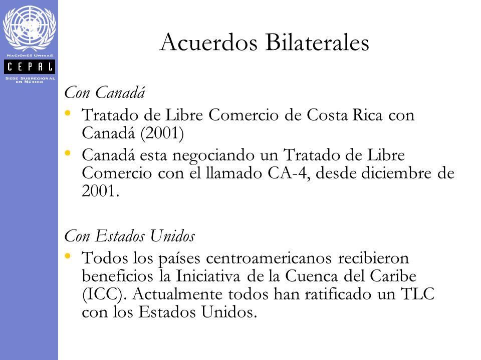Acuerdos Bilaterales Con Canadá