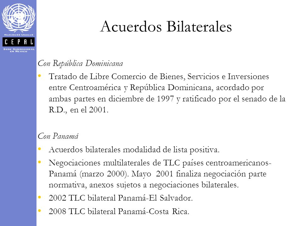 Acuerdos Bilaterales Con República Dominicana