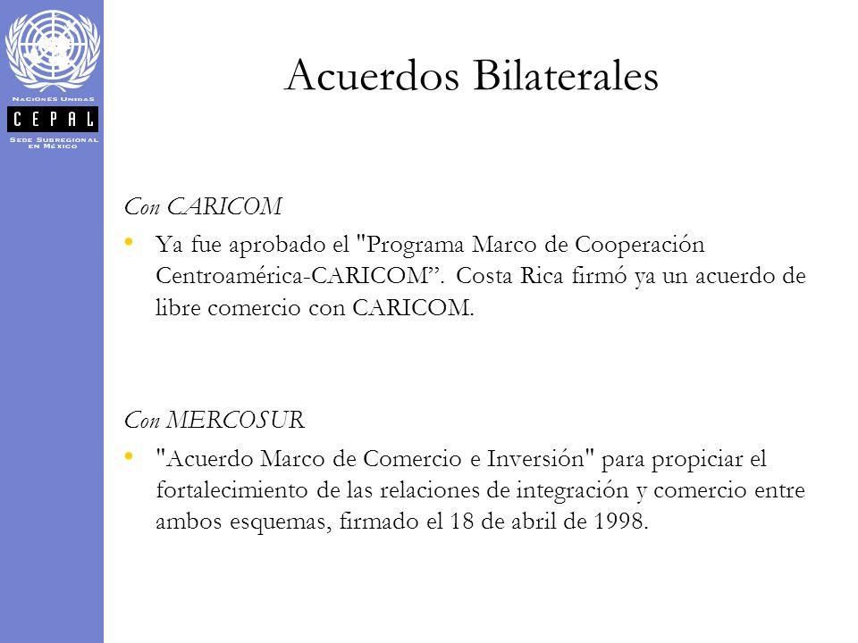 Acuerdos Bilaterales Con CARICOM