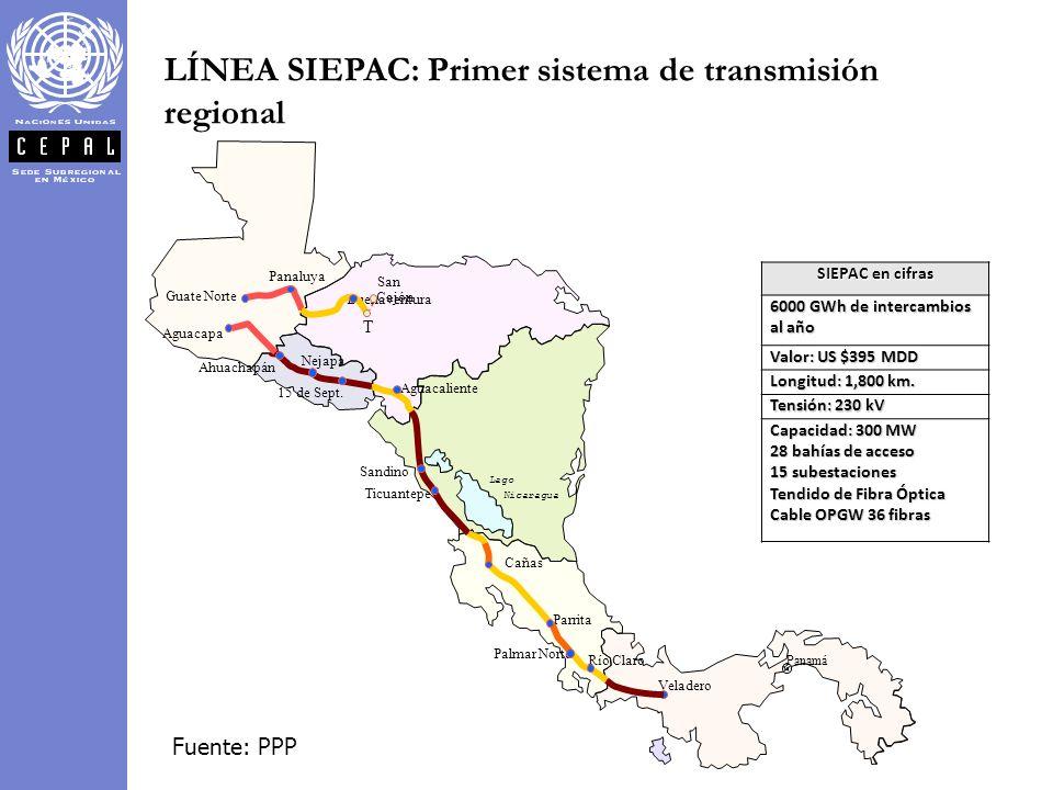 LÍNEA SIEPAC: Primer sistema de transmisión regional