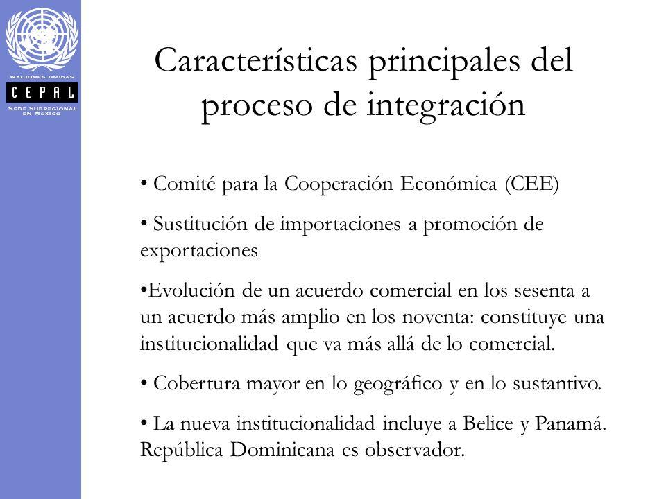Características principales del proceso de integración