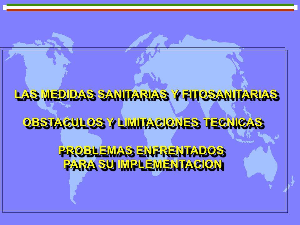 LAS MEDIDAS SANITARIAS Y FITOSANITARIAS