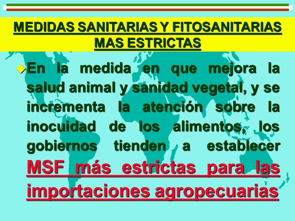 MEDIDAS SANITARIAS Y FITOSANITARIAS MAS ESTRICTAS