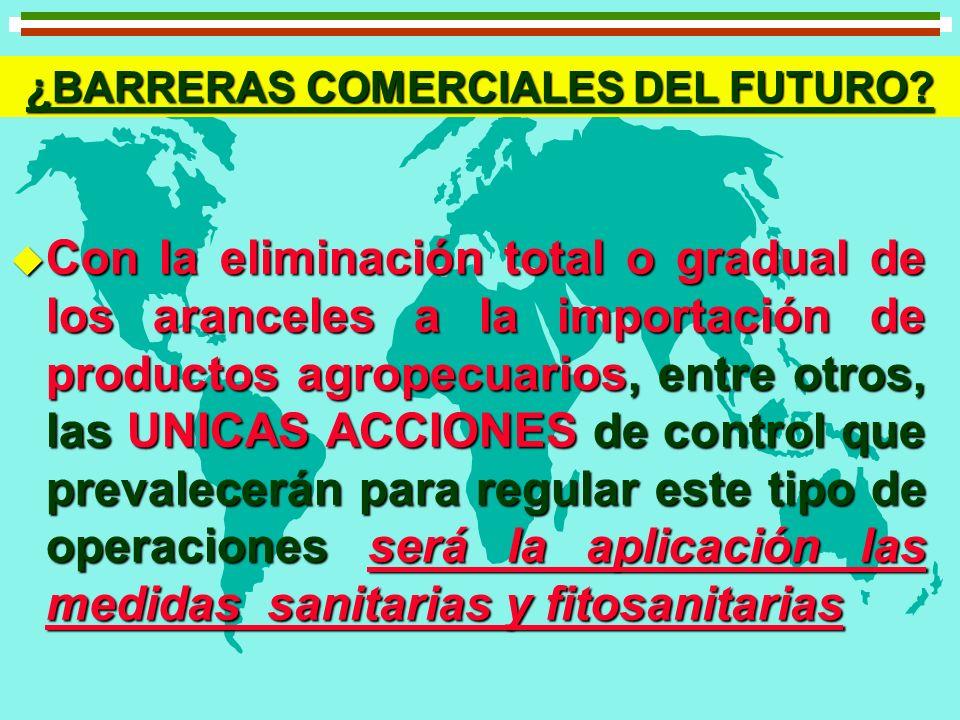 ¿BARRERAS COMERCIALES DEL FUTURO