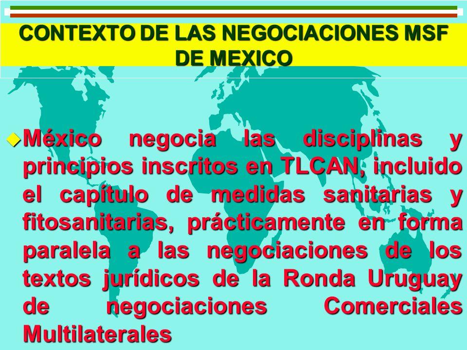 CONTEXTO DE LAS NEGOCIACIONES MSF DE MEXICO