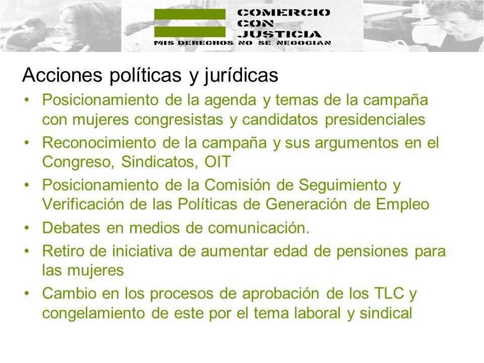 Acciones políticas y jurídicas