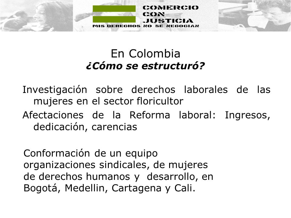 En Colombia ¿Cómo se estructuró