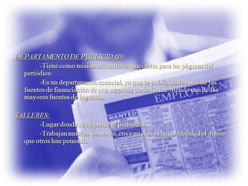 DEPARTAMENTO DE PUBLICIDAD: