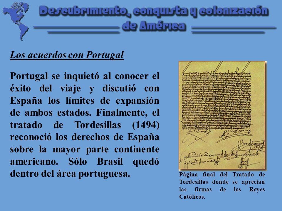 Los acuerdos con Portugal