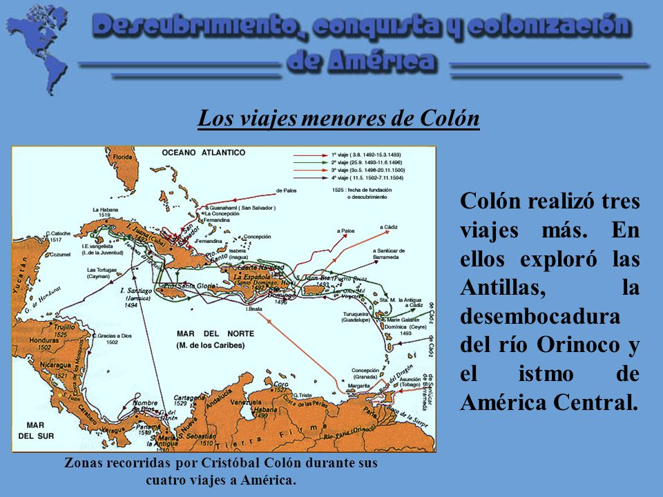 Los viajes menores de Colón