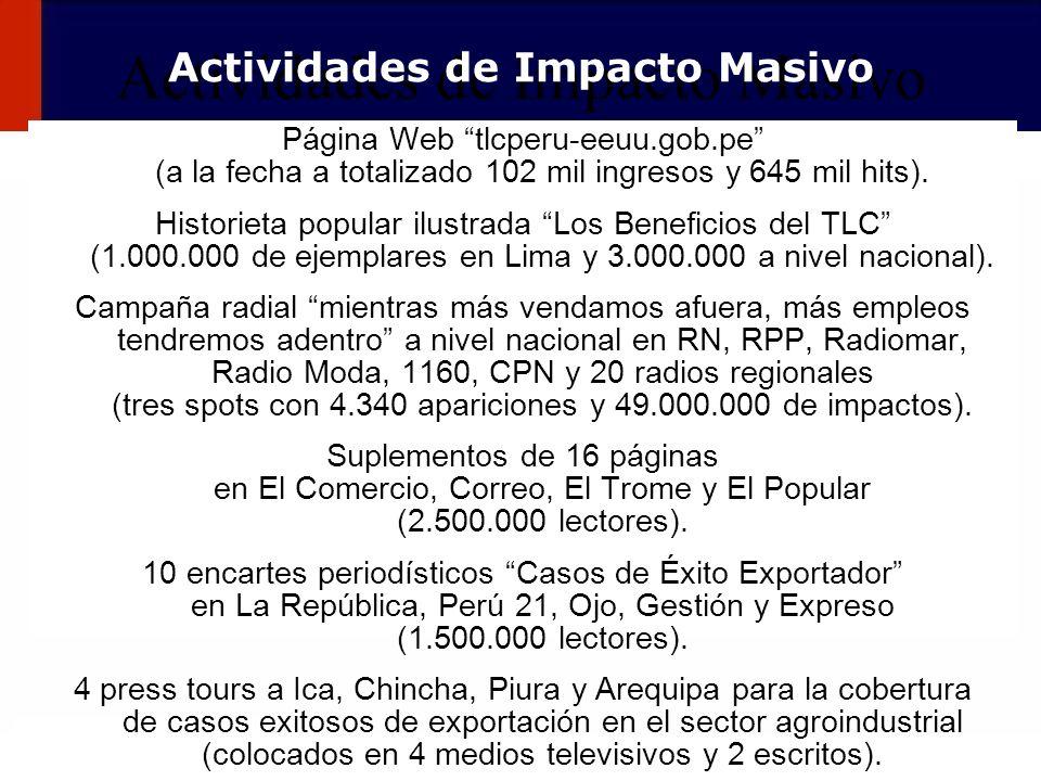 Actividades de Impacto Masivo