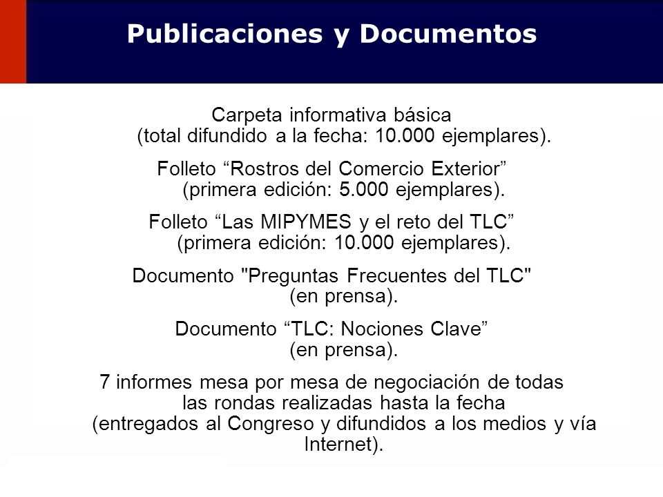 Publicaciones y Documentos