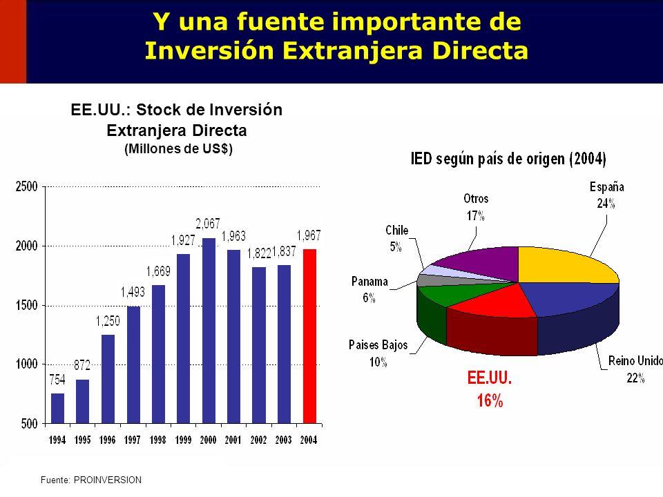 Y una fuente importante de Inversión Extranjera Directa