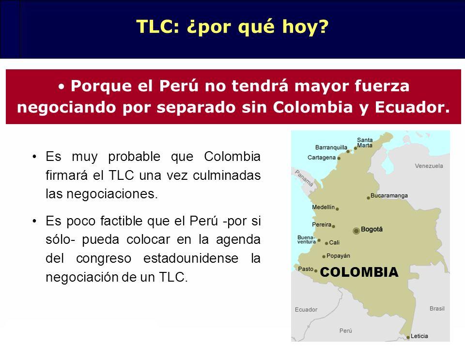 TLC: ¿por qué hoy Porque el Perú no tendrá mayor fuerza negociando por separado sin Colombia y Ecuador.