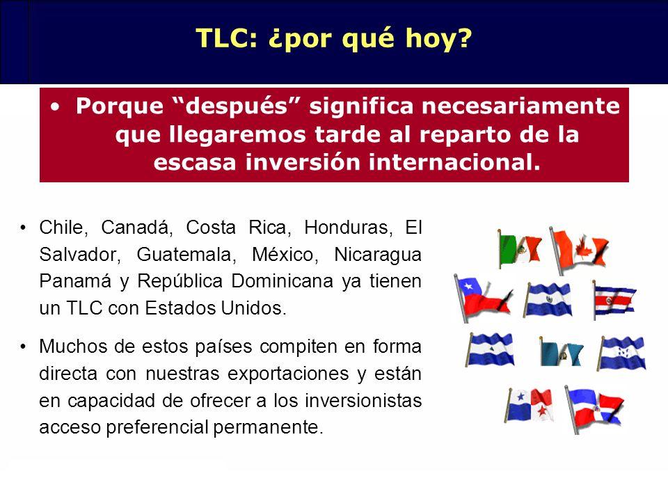 TLC: ¿por qué hoy Porque después significa necesariamente que llegaremos tarde al reparto de la escasa inversión internacional.