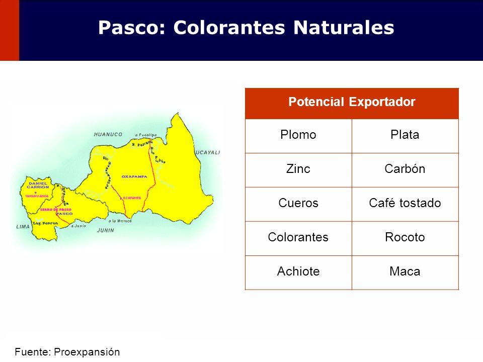 Pasco: Colorantes Naturales