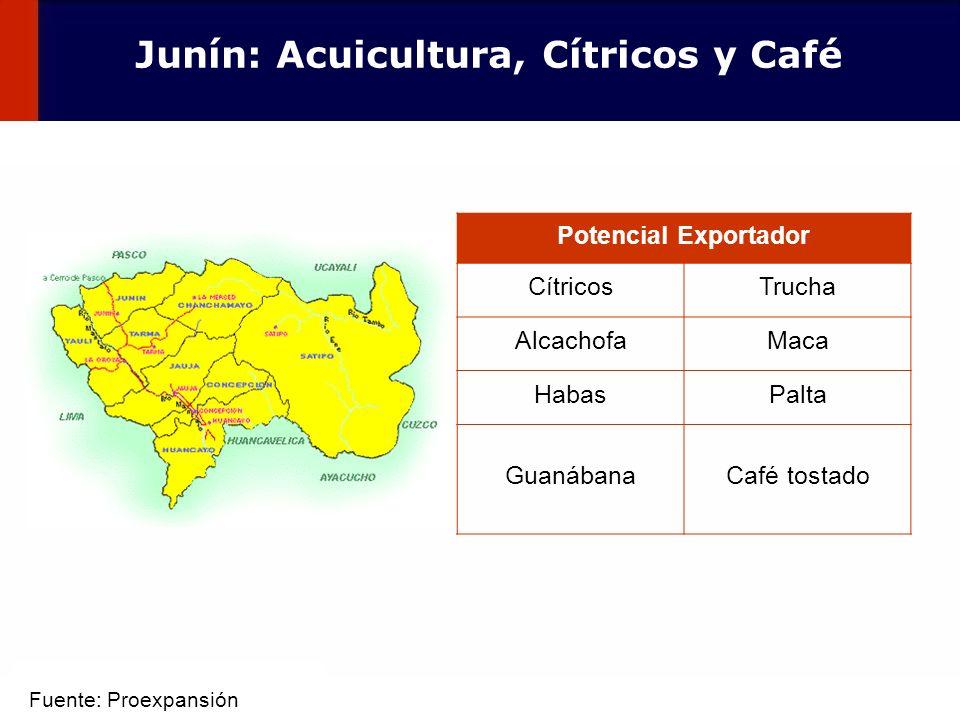 Junín: Acuicultura, Cítricos y Café
