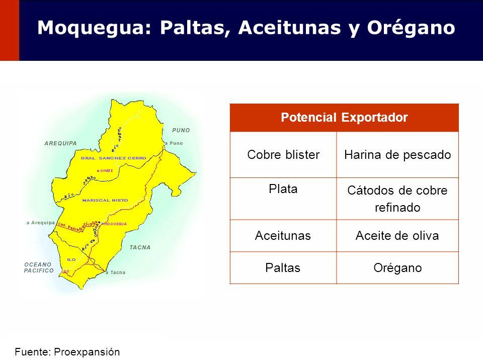 Moquegua: Paltas, Aceitunas y Orégano